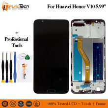 цена на Original For Huawei Honor V10 View 10 BKL-AL20 BKL-AL00 BKL-AL09 LCD Display + Touch Screen Digitizer Assembly With Frame