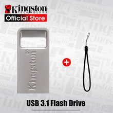 Kingston – clé USB 128 en métal, support à mémoire de 16gb 64gb 32 gb 3.1 gb, lecteur Flash, disque U
