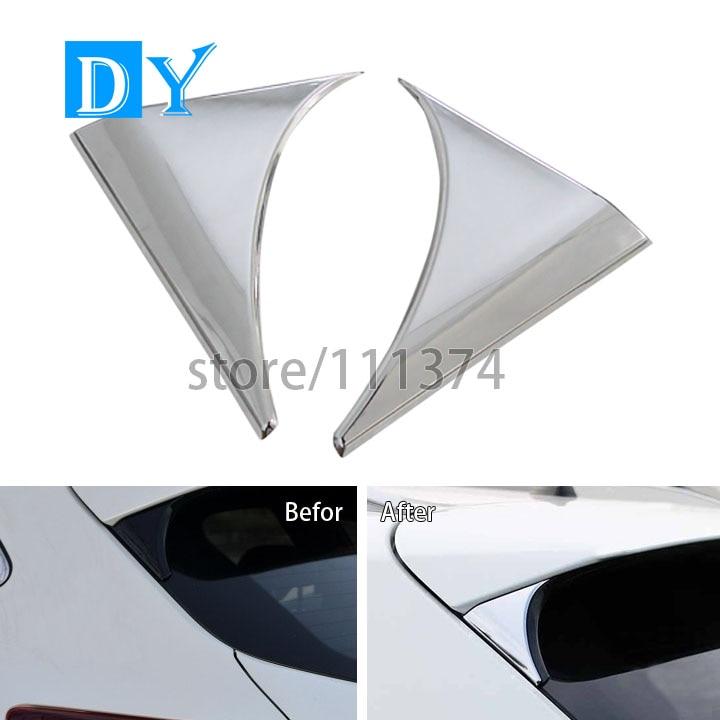 Prix pour ABS Chrome Poli Surface Spoiler Côté Couverture Décoration Garniture Cadre Couverture Pour Nissan Qashqai 2014 2015 2016 J11 Car Styling