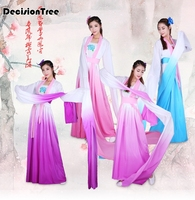 2019 new chinese folk dance classical dance dress girl dance wear costumes top water sleeve costume stage performance