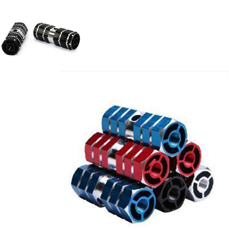 BMX Mountain Bike Bicycle Axle Pedal Alloy Foot Pegs Cylinder MTB Footrest
