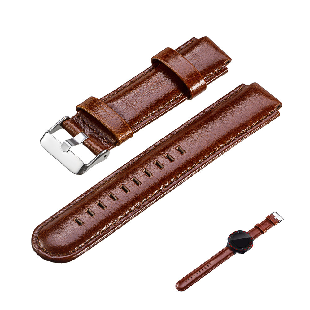 Genuine Leather Brown Double-edged Wristband with Knife Tool for Garmin Forerunner  220 230 235 630 620 735 парктроник parkmaster 4 dj 11 silver