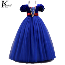 Snow White Princess Dress Moana Party Girls Dress Elegant Summer Kids Dresses For Girls Elsa Costume