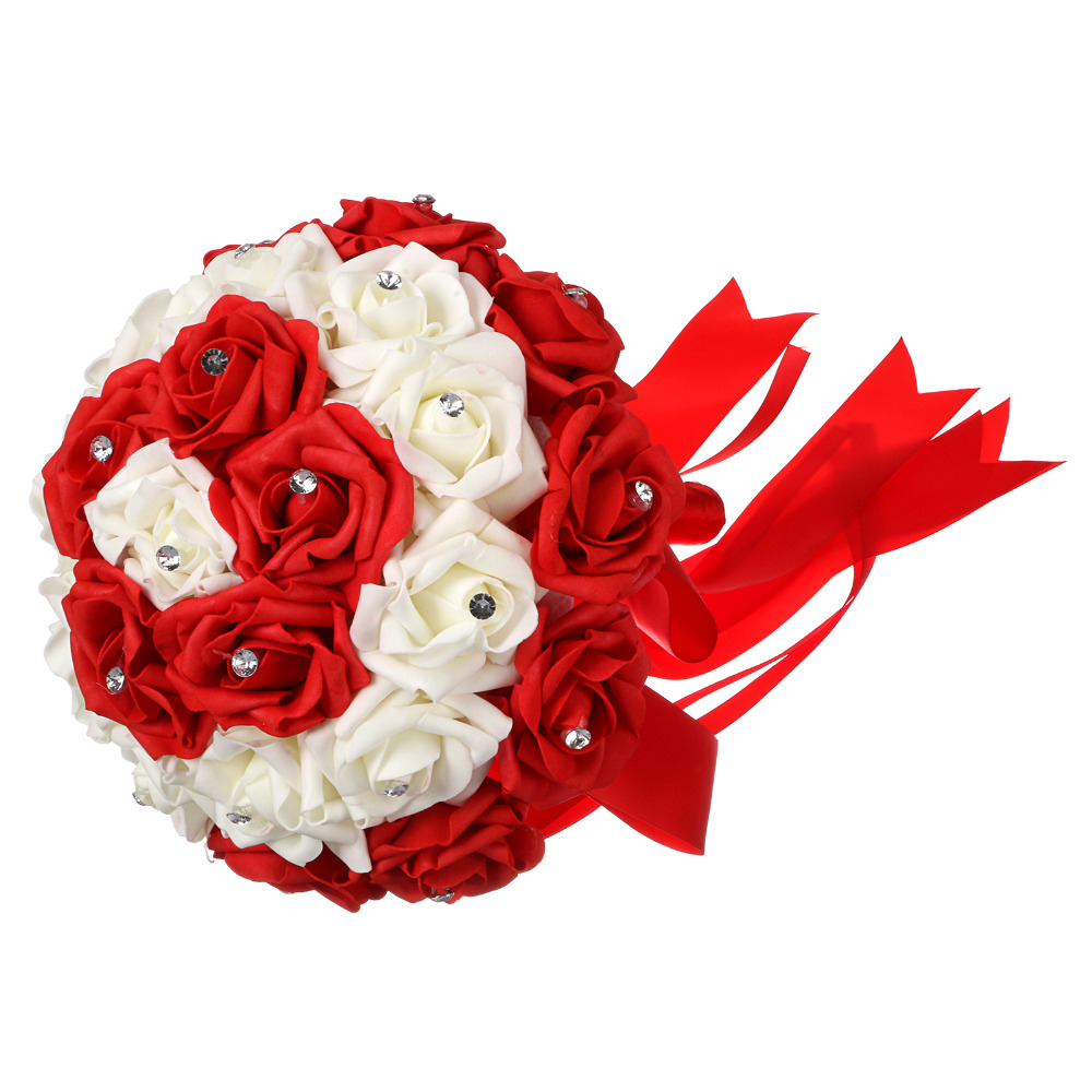 red color bride bouquet !12\