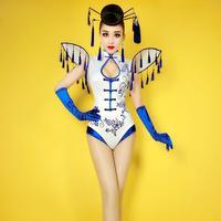 Nightclub White Lace Female Singer Bodysuits Dj Sexy Costumes Women Ds Lead Dancer Stage Wear Performance Jumpsuit