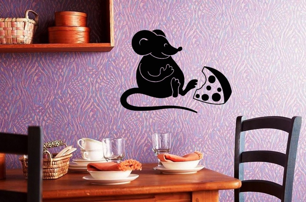 P002 Kartun Indah Tikus Keju Mini Stiker Dekorasi Dinding Tv Sofa Latar Belakang Mandi Home Decor Hadiah Anak R Gratis Pengiriman Di Wall Stickers
