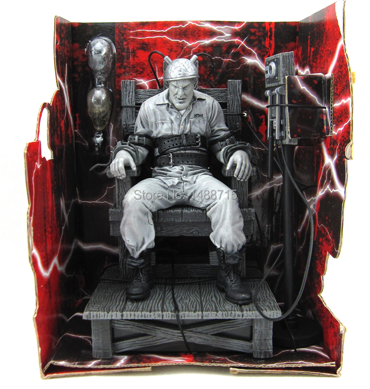 New Hot NECA Sin City Marv Death Row Electric Chair Classic Robert Rodriguez Movie Comic 7 Action Figure Toys Retail Box hot sale neca classic movie boxer rocky sylvester stallone with us national flag 18cm action figure toys new box