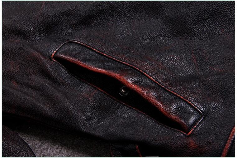 HTB1lBeChXzqK1RjSZSgq6ApAVXav 2019 Vintage Red Brown Men American Casual Style Leather Jacket Plus Size 5XL Genuine Cowhide Autumn Leather Coat FREE SHIPPING