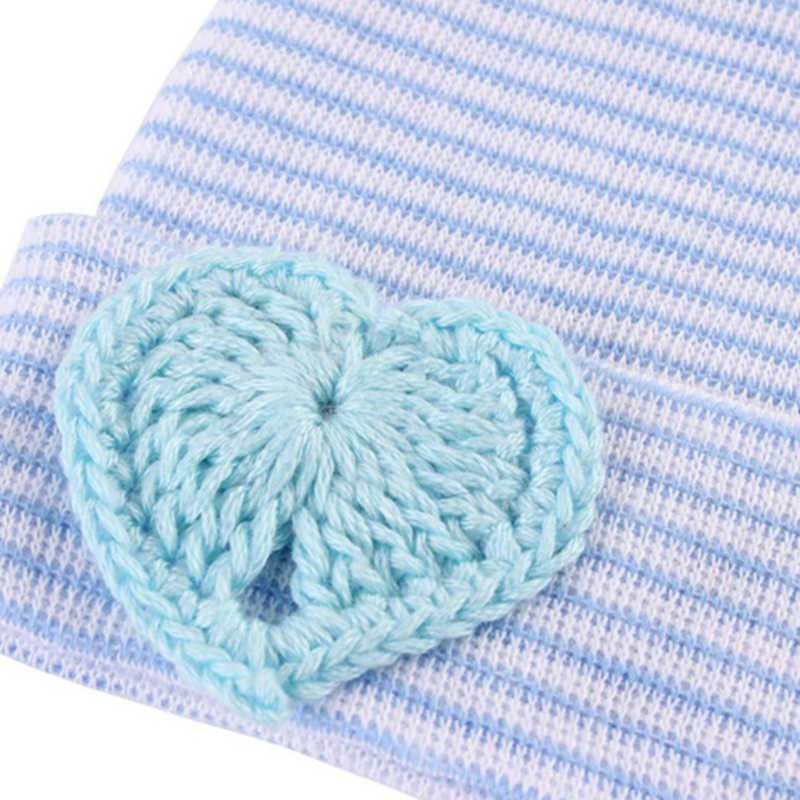 Baby High Quality Warm Beanie Hat Newborn Toddler Baby Infant Girl Toddler Soft Comfy Bowknot Striped Hospital Cap