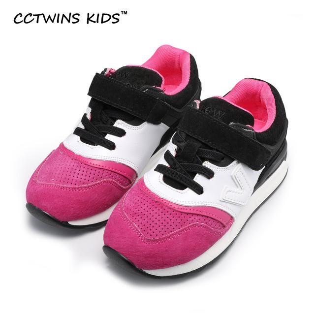 Trainer CCTWINS CRIANÇAS 2017 do bebê da mola menino respirável plana para crianças menina marca de moda couro genuíno sapato casual sneaker