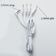 10 pièces de remplacement 4 broches électrodes fils de connexion câbles Jack DC tête 3.5mm connecter Machine de physiothérapie ou unité TENS