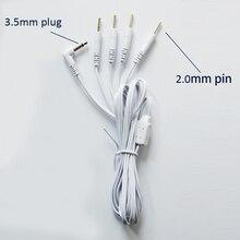 10 stuks Vervanging 4 Pin Elektrodestroomdraden Connector Kabels Jack DC Hoofd 3.5mm Verbinding Fysiotherapie Machine of TIENTALLEN Eenheid