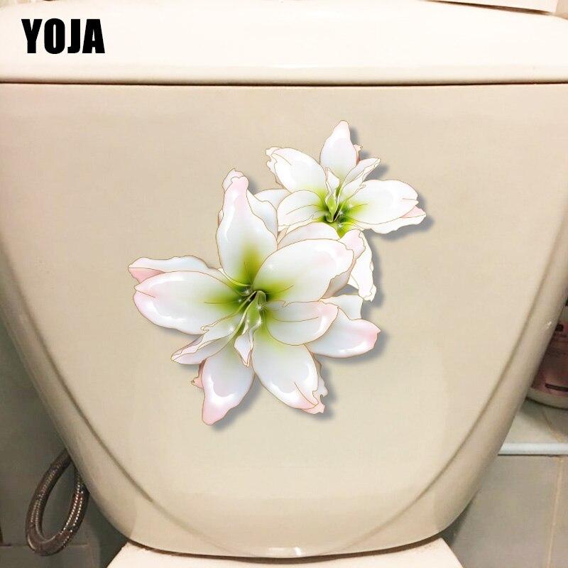 YOJA 19.6*21.1 CENTÍMETROS Elegante Lily Home Living Room Decor Wall Decal WC Assento Do Vaso Sanitário Adesivos T1-0598
