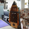 "1pcs 57"" handmade boat Rowing shaped Wine Cabinet for decoration."