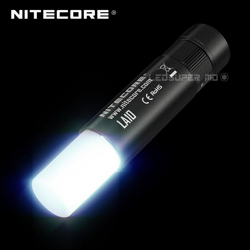 Factory Price Nitecore LA10 Camping Light Lipstick-shaped Thumb-sized 1* AA Mini Camp Lantern with 360 degrees Illumination camp mini gaiter