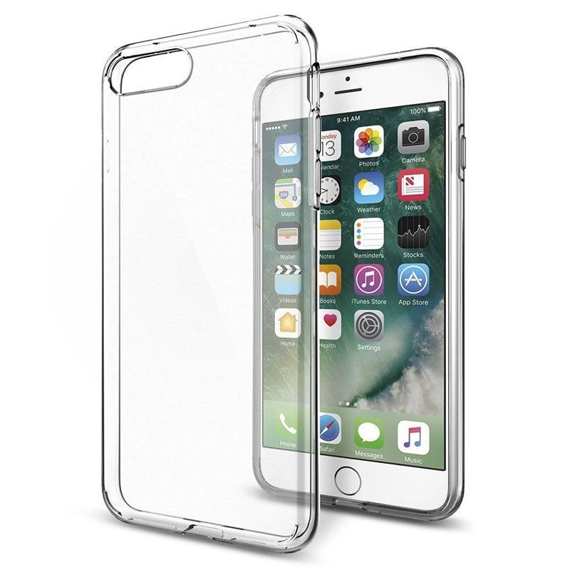 Ultra Fino Transparente Macio TPU Caso Para iPhone 8 8 Além de 7 8 6 6S Mais Claro Silicone Completo capa Para o iphone X XS MAX XR 5 5S SE