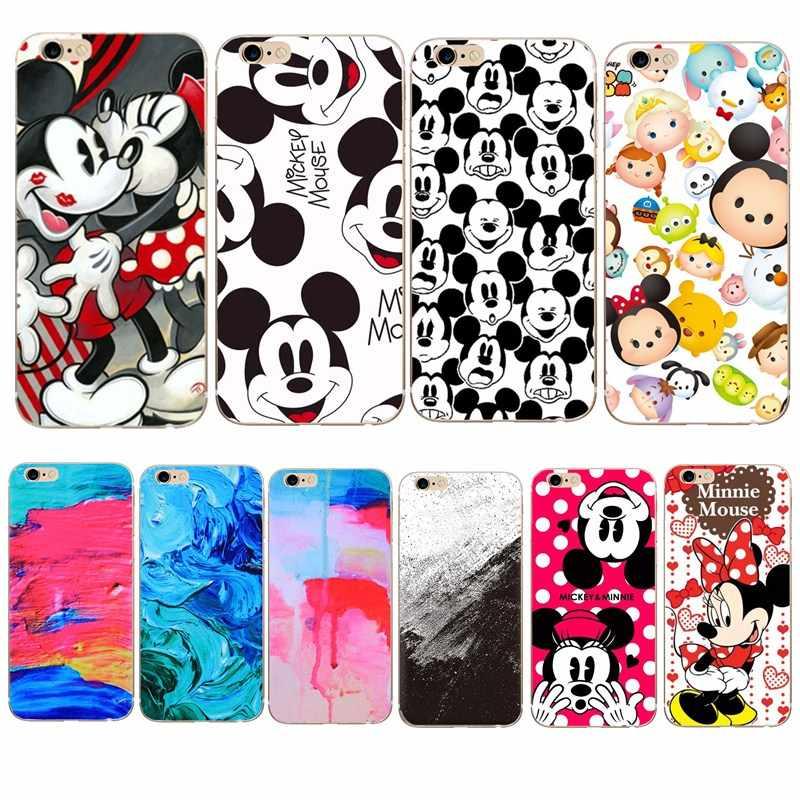 Силиконовый мультяшный чехол для iphone SE 5s 5 Minnie Funny Love Heart Dance Graffiti Art узорные сумки для iphone 6s 6 7 8 plus