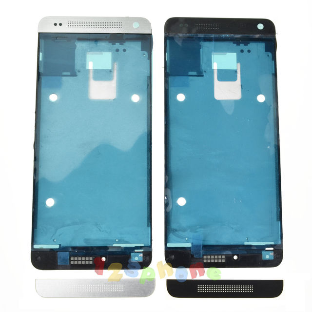 FRONT TOP + BOTTOM BEZEL + MIDDLE MID FRAME HOUSING FOR HTC ONE MINI M4 601n/s/e  #H-636_MF
