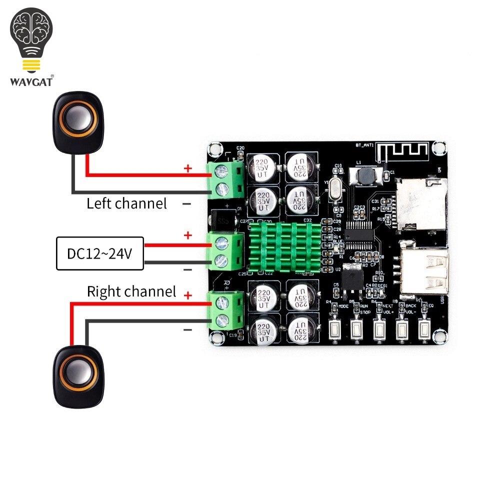 Tpa3116d2 XH-M422 DC12-24V 50 w + 50 bluetooth 4.0 placa de amplificador tpa3116 com bluetooth u disk tf card player VHM-302