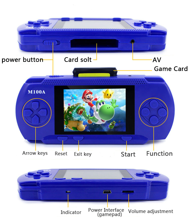 Handheld Children Student GamePad Player 4.3 inch Colorful Display Game Console 1