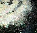 50 gram x Iridiscente Blanco Colores Mezcló Hexagonal Glitter Powder Decoración Del Arte Del Brillo Del Paillette Lentejuelas Forma para Uñas BRICOLAJE de Arte
