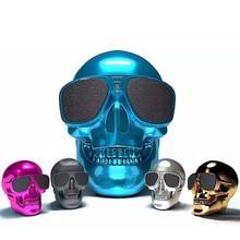 купить DJYG SKULL Wireless Bluetooth Speaker Sun glass NFC Mobile Sub woofer Multipurpose Speaker дешево