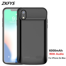 Battery Power Cases For iPhone Xs Max Charger Battery Case 6000mAh Portable External Power Bank Battery Charging Case Cover