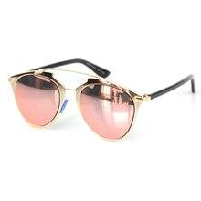 Classic Cat Eye Sunglasses Women Fashion Sunglasses Vintage Brand Designer Hipster Sun Glasses Rose Gold Mirror Female