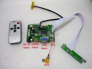 Image 2 - HDMI + 2AV + VGA controlador LCD Kit de placa controladora para Panel CLAA102NA0ACW / HSD100IFW1 A00 /HSD100IFW1 A01 1024*600