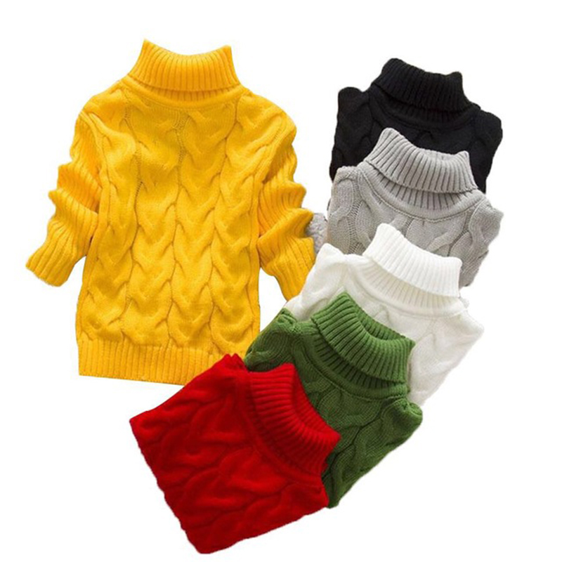 2018 Unisex winter autumn infant Cartoon high collar boy girl child sweater baby turtleneck sweater children pullover sweater turtleneck long high low sweater