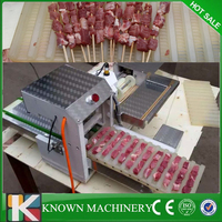 304SS Food grade plastic mold meat skewers making machine, doner kebab meat wear string machine for free shipping