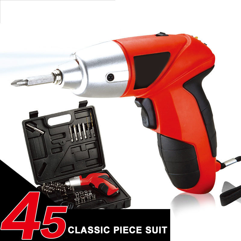 4.8V Electric Screwdriver Charging Screw Cordless Drill Electric Screwdriver Removable Screw Drill Hole 45In 1