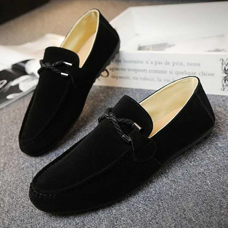 Mannen Vulcaniseer Schoenen Flat Casual Slip Op Mannen Schoenen Instappers Mannelijke Sneakers Lederen Ondiepe Ademend Confort Licht Jeugd Jongen Schoenen