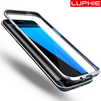 LUPHIE Brand Original Aluminum Bumper Case For Samsung S7 S7 Edge Fashion Accessories Fitted 360 Degree