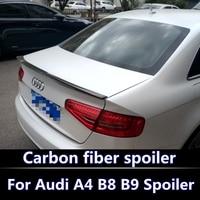 Auto Accessories Rear Spoiler Carbon Fiber Spoiler For Audi A4 B8 B9 Spoiler 2014 2015 2016 spoiler