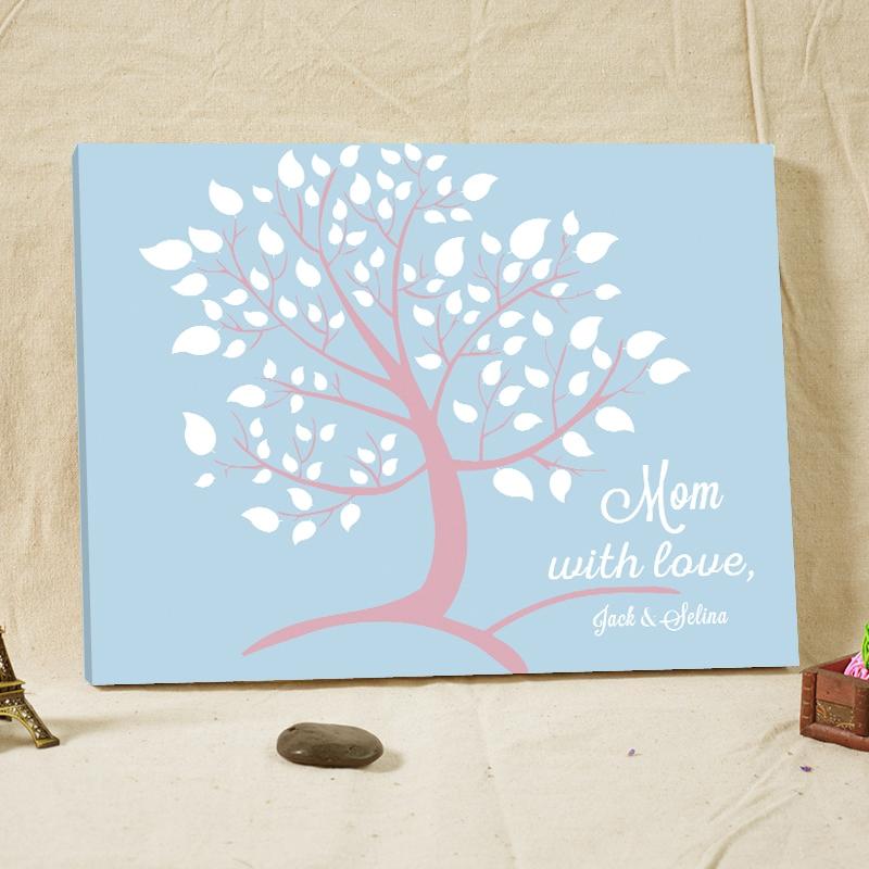 20 71 25 De Reduction Signature Speciale Livre D Or Pour Maman Avec Amour Arbre De Mariage Personnalise Toile Bois Livre D Or Avec Coeur Decoration