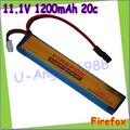 Venta al por mayor 1 unids 100% Orginal Firefox 11.1 V 1200 mAh 20c LiPo Li Po Li Polymer batería 25C de la gota