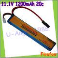 wholesale 1pcs 100% Orginal Firefox 11.1V 1200mAh 20c LiPo Li-Po Li-Polymer Battery 25C Drop shipping