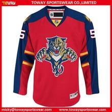 Cheap 100% polyester made men s sublimation printing custom design goalie  cut hockey jersey 0c19597f3