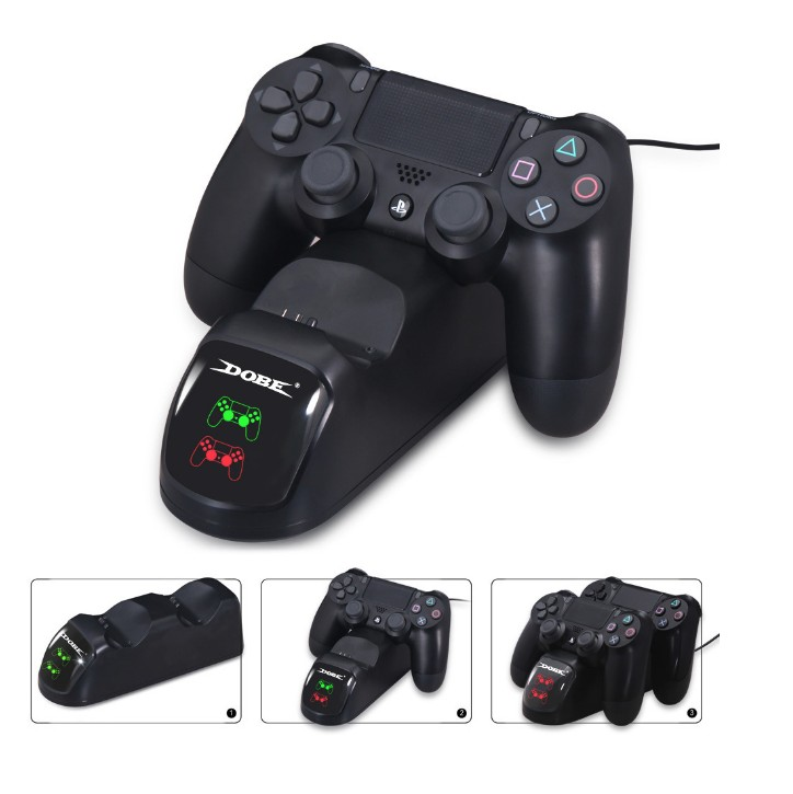 Image 3 - Dual Charging Dock Charger Station Controller for Playstation 4 / PS4 Controller-in Replacement Parts & Accessories from Consumer Electronics