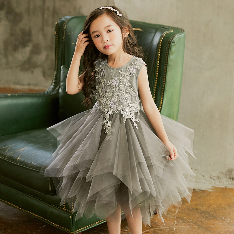 new 2018 toddler teenage girls lace flower party dress baby girl summer princess kids mesh sleeveless ball gown dresses clothes jioromy big girls dress 2017 summer fashion flower lace knee high ball gown sleeveless baby children clothes infant party dress