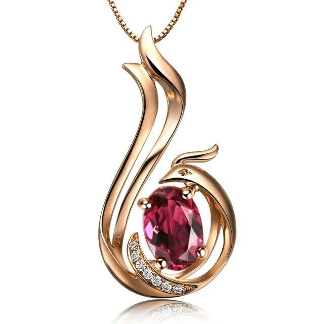 Новое Стильное ювелирное украшение в виде животных GVBORI 18 K розовое золотое ожерелье с подвеской бриллиантовое свадебное ожерелье ювелирные украшения птица чудо