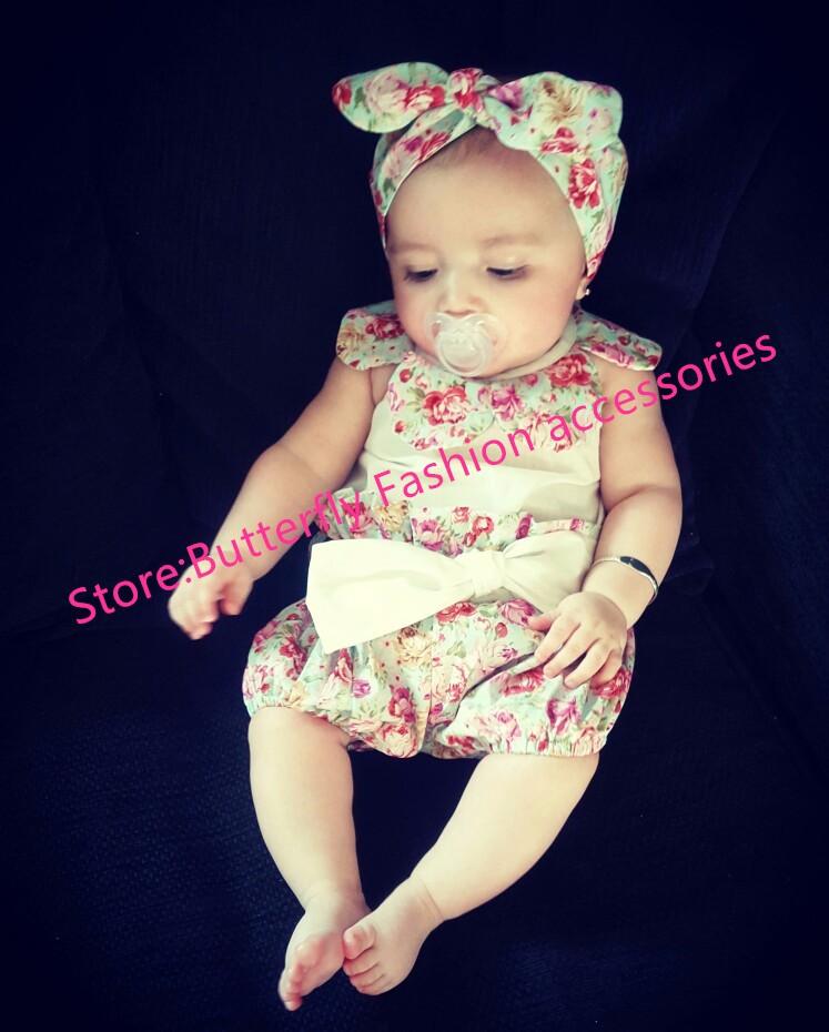 HTB1lBgaJVXXXXa5XXXXq6xXFXXX5 - 2015New arrival baby toddler summer boutiques baby girls vintage floral ruffle neck romper cloth with bow knot shorts headband