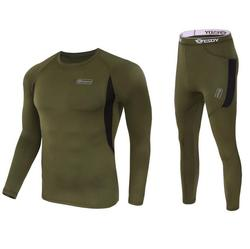 Winter men's tactical fleece thermal underwear sweat quick drying thermo underwear mens breathable elasticity Long Johns pants