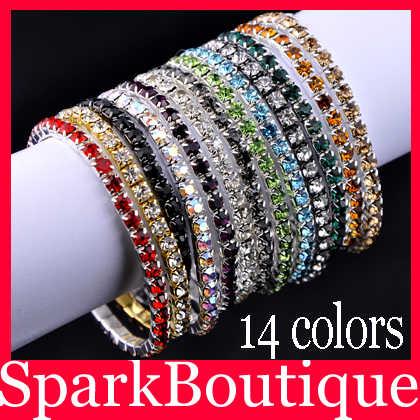2017, nueva pulsera de moda para chicas, pulsera de cristal CZ, pulsera Auden con diamantes de imitación, pulsera de arcoíris