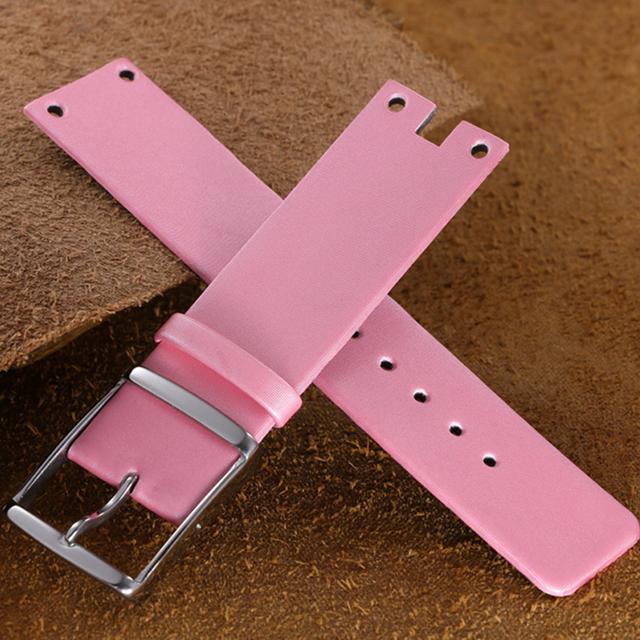 Genuine Leather Watchbands For CALVIN KLEIN K94231 Ladies 22mm Leather Watch Strap For CK Women Silk Soft Watch Band Clock Belt
