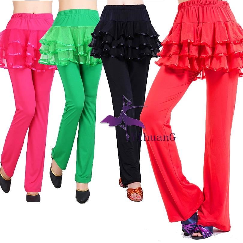 New Adult Dancewear Outfits Latin Samba Rumba Cha Cha Dance Tops Pants Ballroom