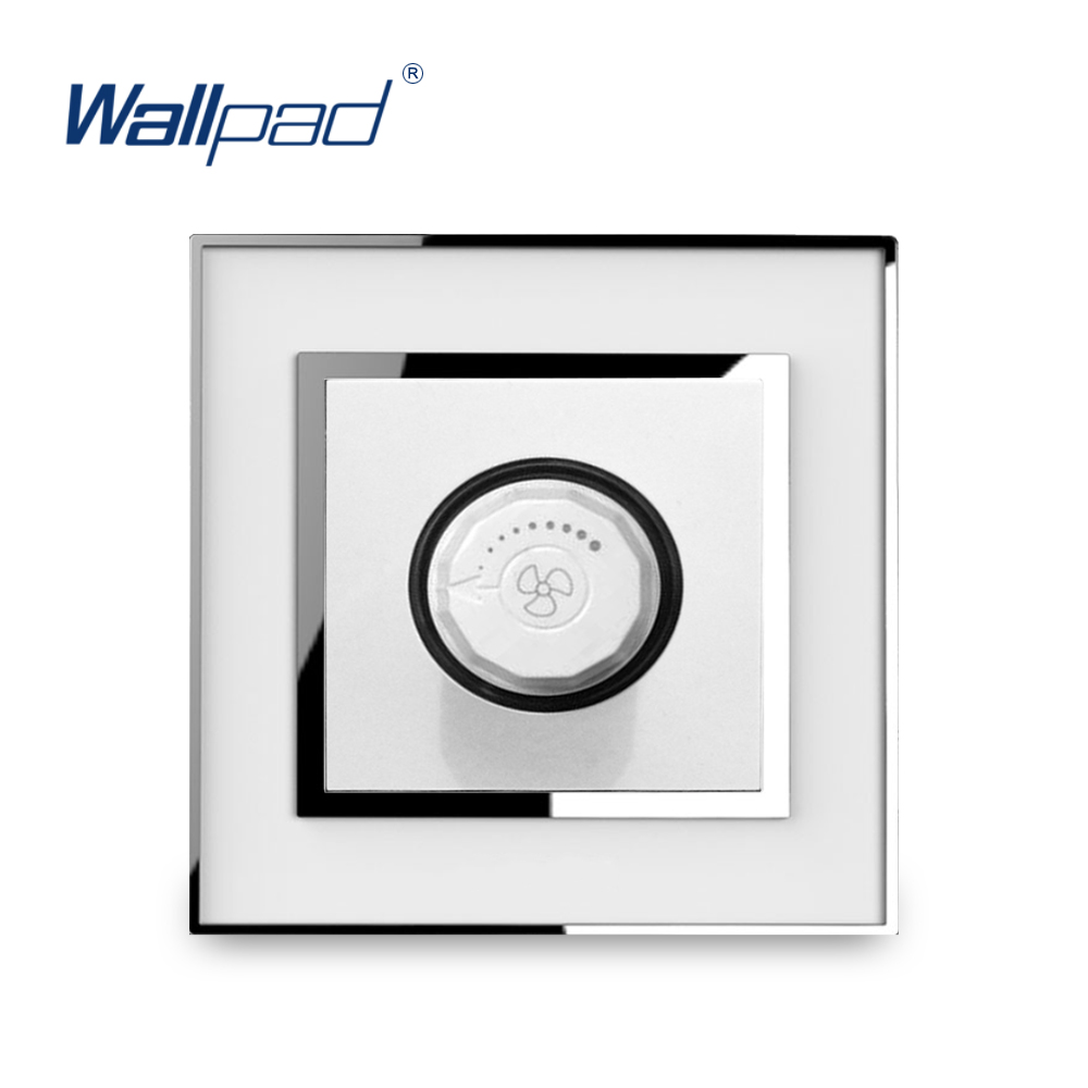 Fan Dimmer Switch Speed Regulator Knob Switches New Arrival Wallpad Luxury Acrylic Panel With Silver BorderFan Dimmer Switch Speed Regulator Knob Switches New Arrival Wallpad Luxury Acrylic Panel With Silver Border