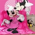Домашний текстиль Дети мультфильм Розовый Минни шаблон Коралловый флис одеяла постельное белье throws150x200cm