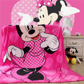 Home textiles Children cartoon Pink Minnie pattern Coral fleece blankets bedclothes the throws150x200cm